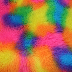 Rainbow Fur Fabric